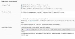 RSS better feed настройки