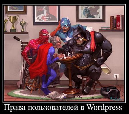 Какие права имеют пользователи в WordPress