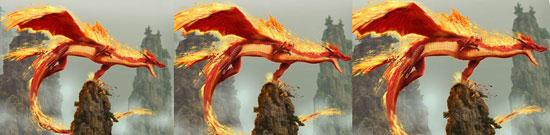 огненный дракон уникальные изображения